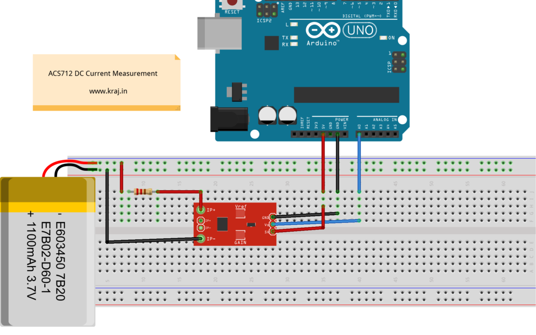 Arduino – ACS712 DC Current Measurement | Kraj